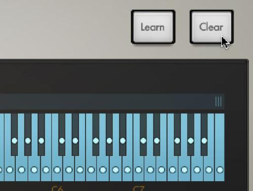 Before programming your own chord clear the existing settings.