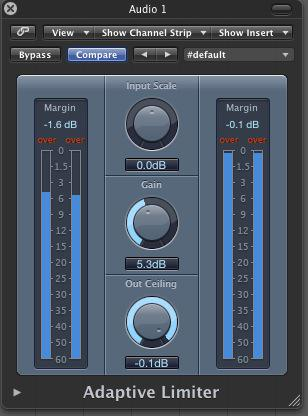 Logic's Adaptive Limiter doing it's thing