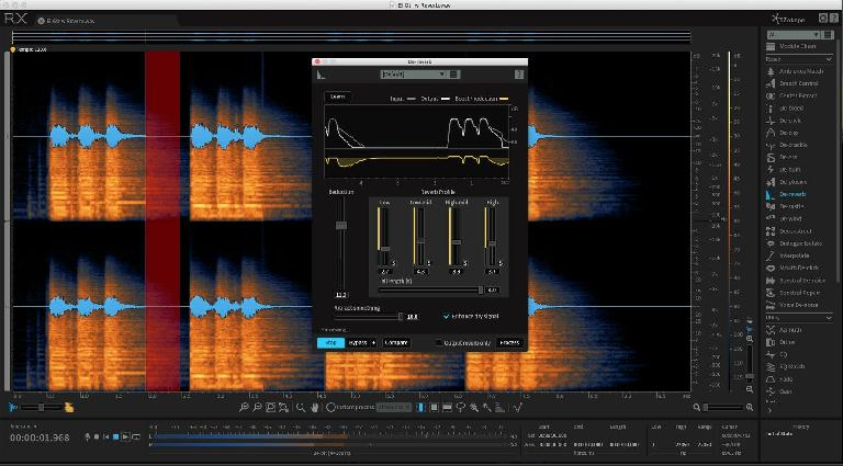 De-reverb can remove excessive ambience from a recording