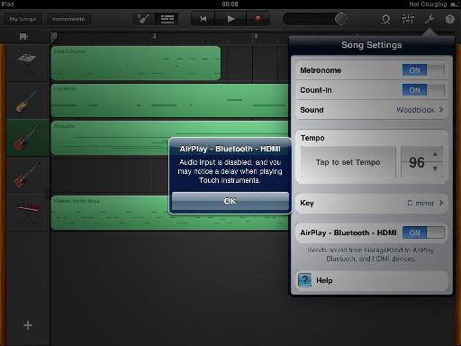 Enabling audio output to AirPlay - Bluetooth - HDMI disables audio input