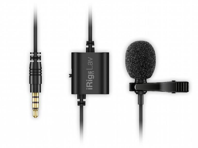 The IK iRig Mic Lav with windshield
