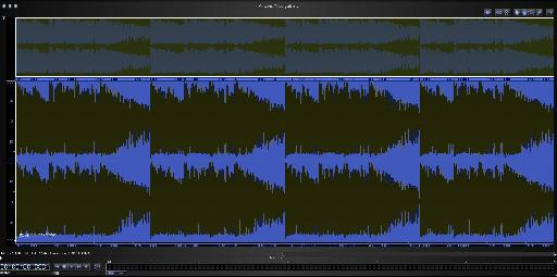 Pic 1b: The same audio with distortion applied, clearly showing the reduced dynamic range