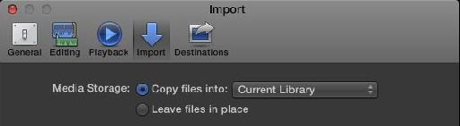 In Preferences or in the import dialog, Copying into a Library = Managed, leaving where it is = External.