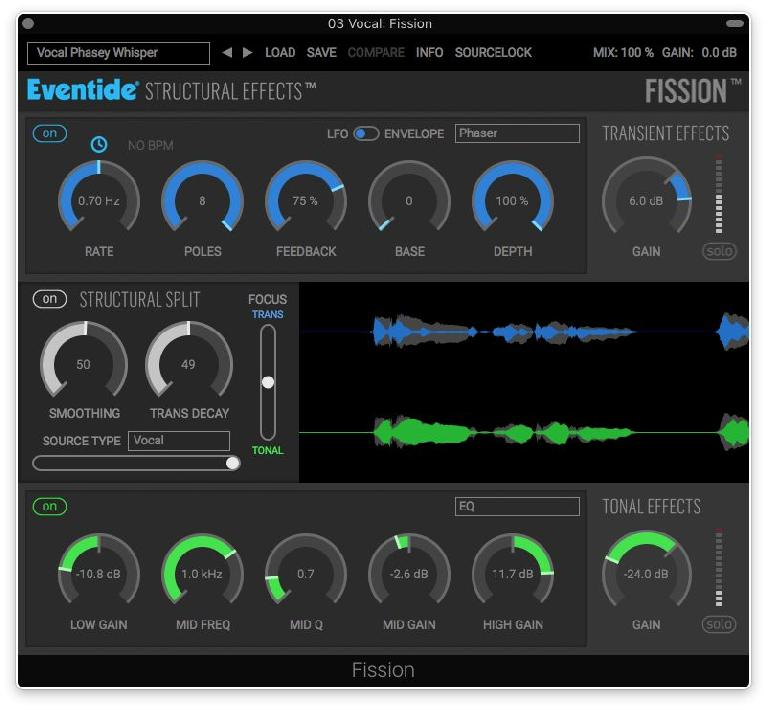 Eventide's Fission plug-in, which combines Eventide's new Structural Effects technology with creative audio FX processing