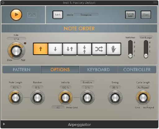 With lots of options available, Logic Pro X's Arpeggiator is likely to please new and old Logic users.