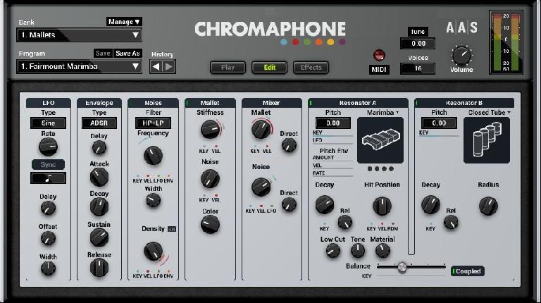 Chrompahone 2 editing screen.