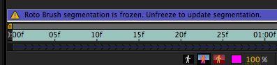 It's frozen