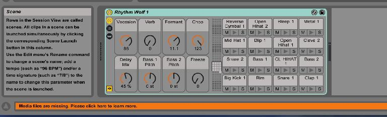 AskAudio Rhythm Wolf Ableton Live Drum Rack
