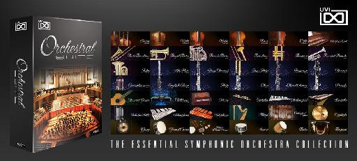 UVI Orchestral Suite contains over 60 sampled symphonic instruments.