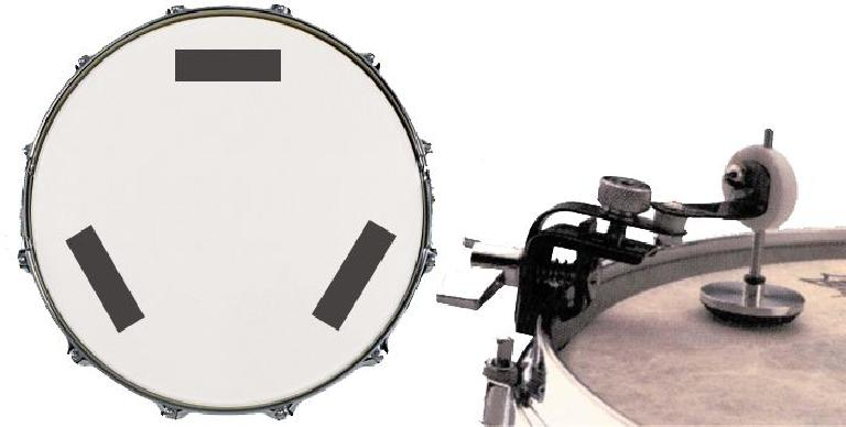 Some approaches to damping drums for recording