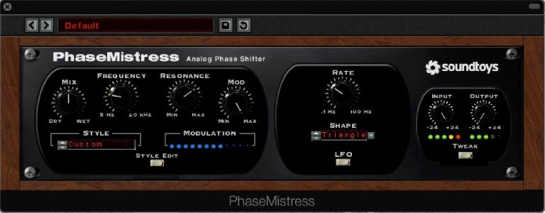 A Phaser with a full set of user controls