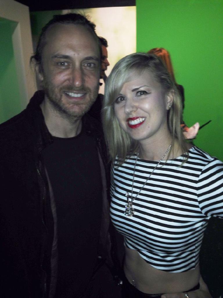 David Guetta & Sara Simms.