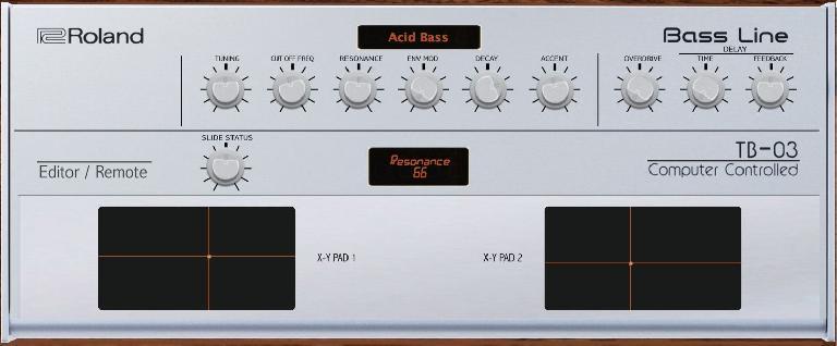 Roland TB-03 MIDI Editor