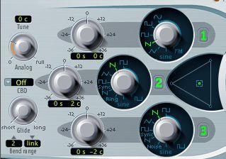 Oscillator 3 settings