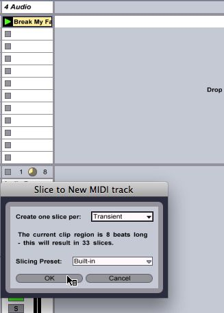 Slice to new MIDI Track