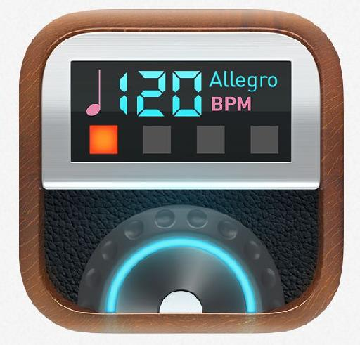 Pro Metronome on Apple Watch has a great interface, but doesn't yet support hacptic feedback.