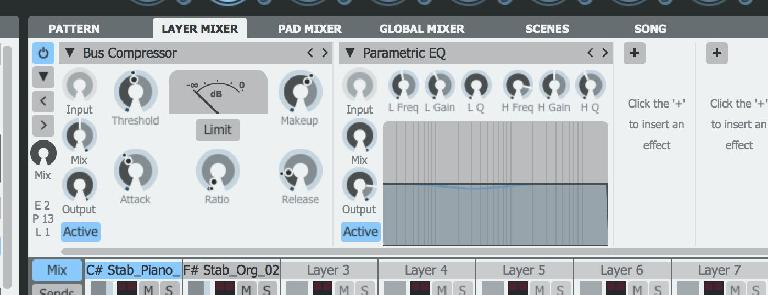 Loads of effects are available, including effect chain presets