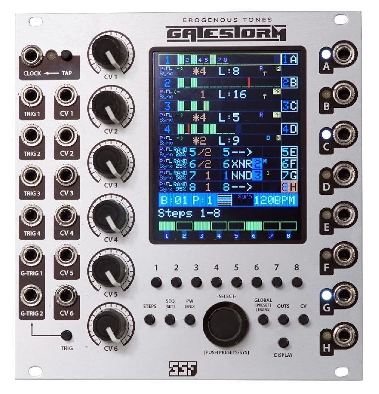 Steady State Fate & Erogenous Tones GateStorm eurorack module.