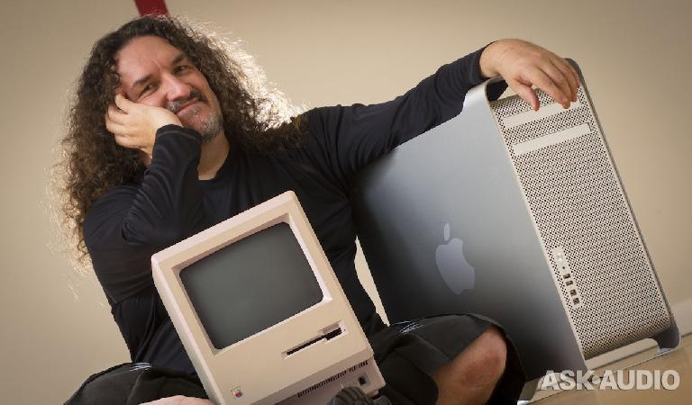 My Macintosh (1984) and 3.46 GHz dual hex-core Mac Pro (2009): The slowest and fastest Macs I own.