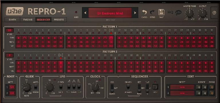 Repro-1's sequencer