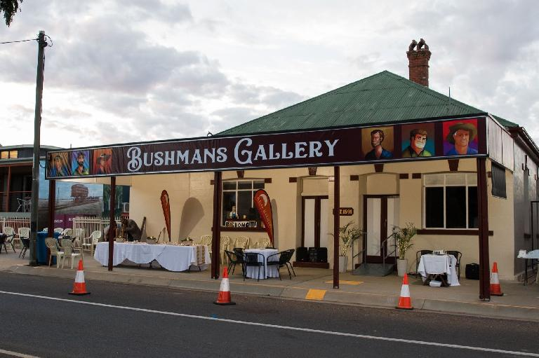 Here's The Bushmans Gallery on its opening night — photo courtesy Lisa Alexander Photography http://lisaalexanderphotography.com.au