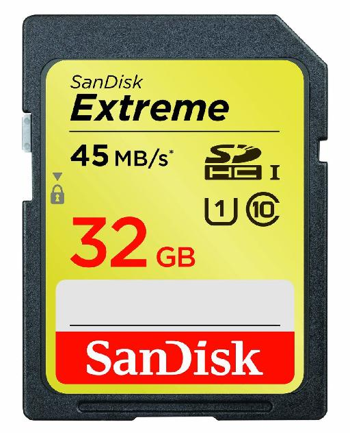 Fast, capacious memory cards are a must for recording full HD video.