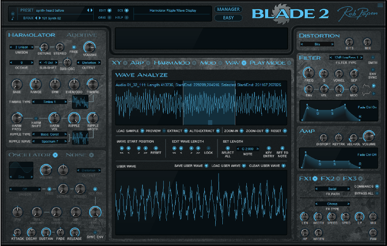 Blade 2 wave analysis