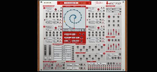 Rob Papen Vecto rack extension synth interface.