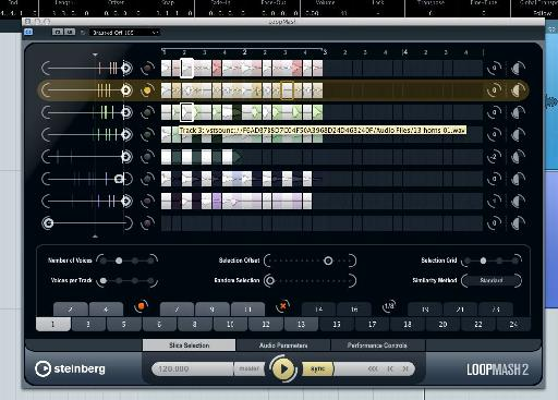 LoopMash remixing a collection of grooves