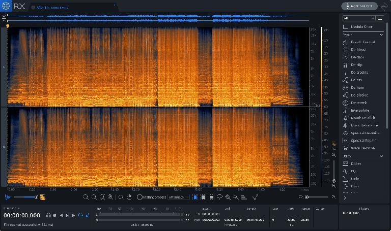 iZotope RX 7 standard editor.