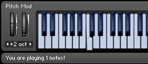 You are playing 1 notes!