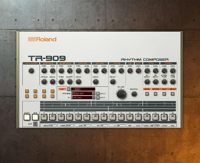 Roland Cloud TR-909 plugin