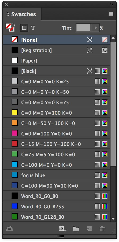 All the UI looks sleeker, but here's the new, roomier Swatches panel, sorted by color value