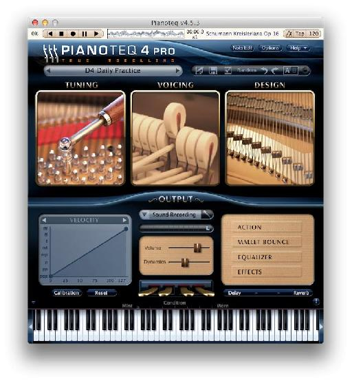 Pianoteq weighs less than 50 MB but sounds way, way bigger.