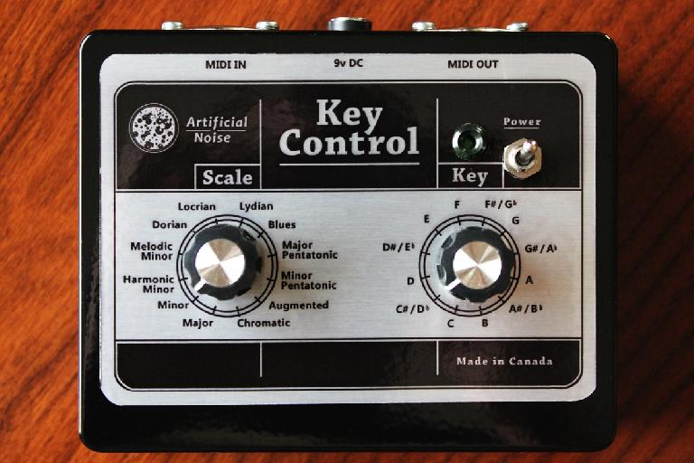 Key Control note quantizer control panel.