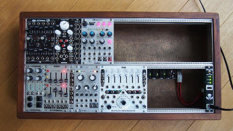 Eurorack modular synthesizer system.
