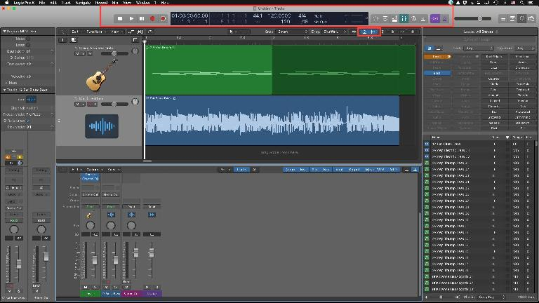 The new, lighter theme in Logic Pro 10.3