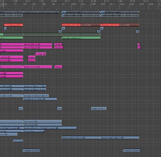 The final breakdown and drum outro construction starts
