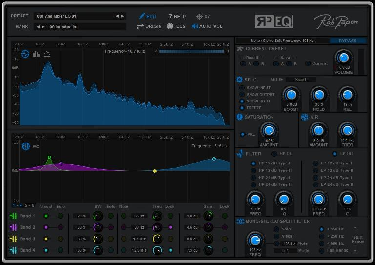 RP-EQ Main Screen.