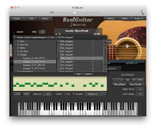 Choose from a range of preset playback patterns and phrases.