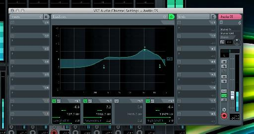 Cubase 6's excellent built in channel strip EQ