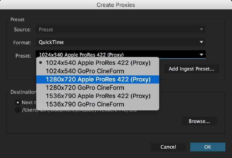Collaborating, or working with heavy duty media? Generate proxy files in a variety of resolutions