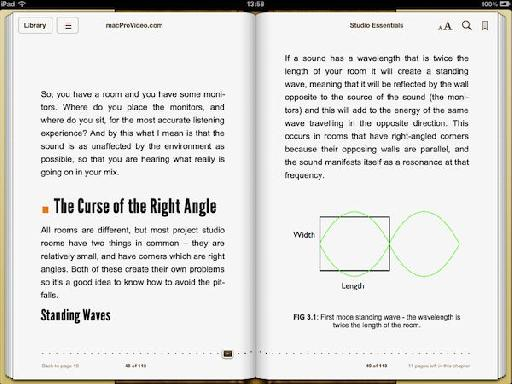 Screenshot from Music Essentials iBook