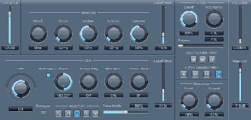 Logic's Autofilter settings