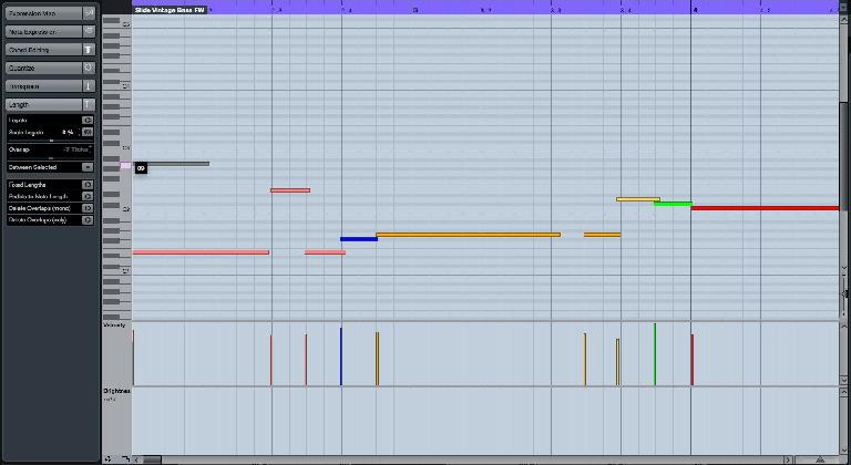 Figure 1. Quick MIDI Note Entry in the Key Editor.