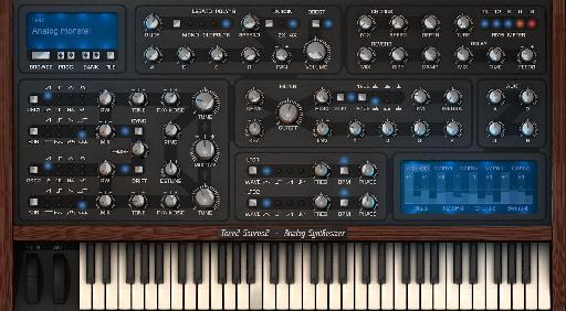 Tone2 Saurus 2 interface.