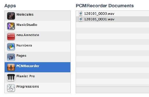 Sync files via iTunes on a Mac