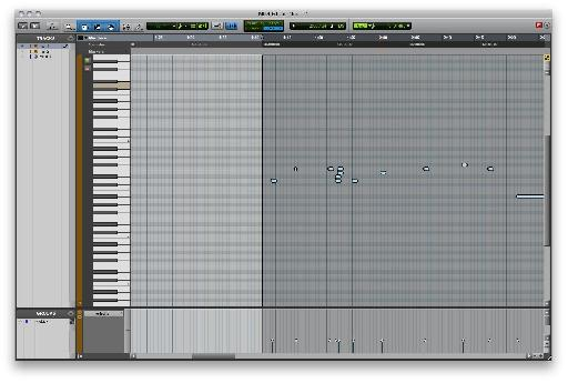 MIDI Editor in Pro Tools