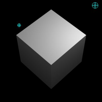 Cube standing on a point