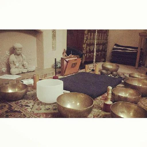 Figure 2 – Another view of my sound bath setup